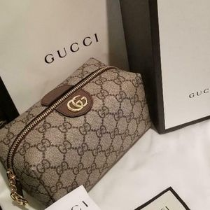 Authentic NEW Gucci Ophidia GG Cosmetic Bag Purse
